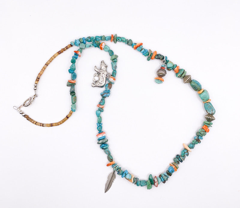 Turquoise & Charm Necklace