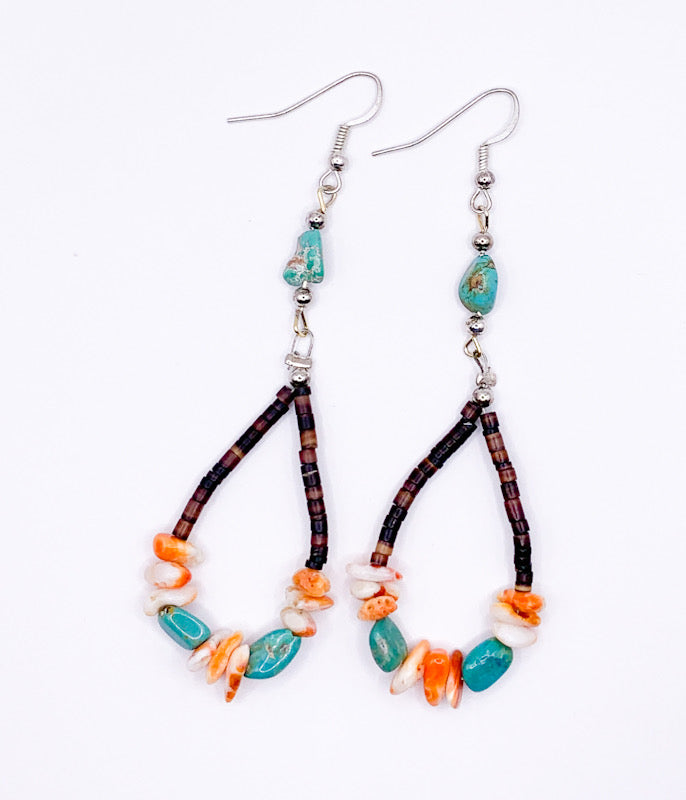 Heishi Loop Earrings