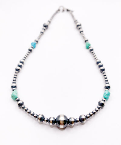 Turquoise & Navajo Pearl Necklace 16