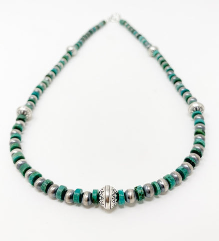 Navajo Pearl & Turquoise Necklace
