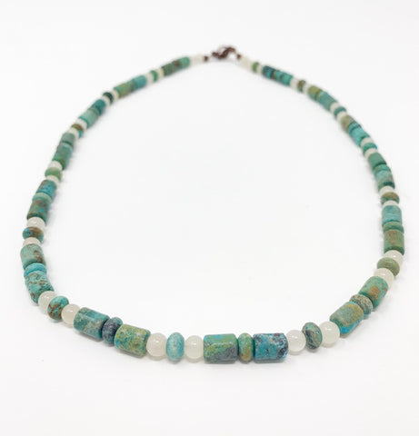 Green Turquoise Beaded Necklace