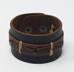 Grommets Boho Leather Cuff