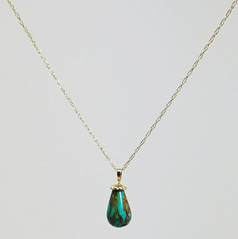 Kingman Turquoise Necklace - Small Pendant