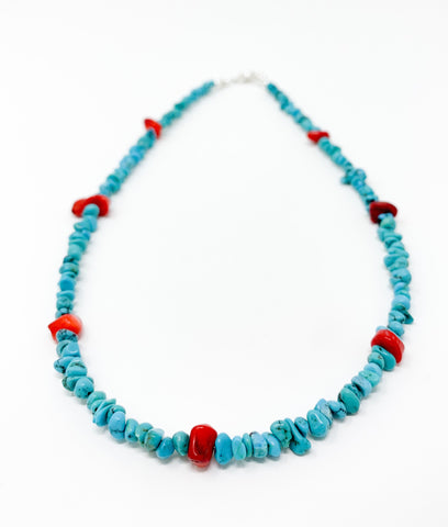 7 Red Nuggets Necklace - Men's