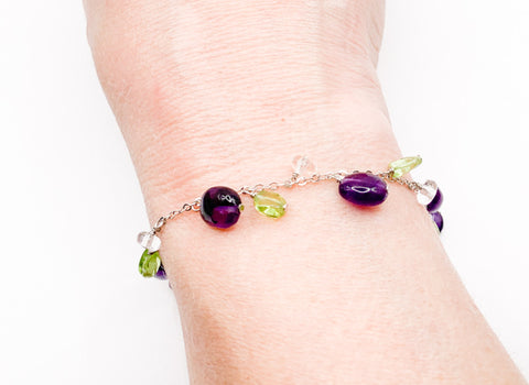 Gemstone Drop Bracelet