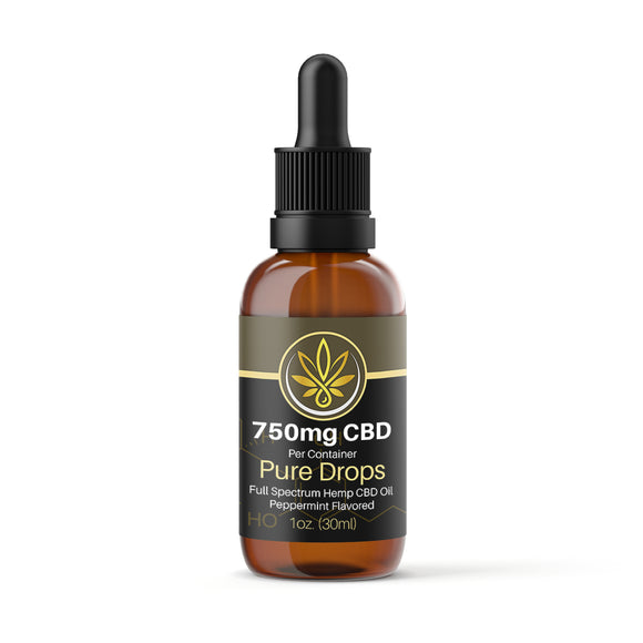 1oz (30ml) 750mg Full Spectrum CBD Oil - www.puresourceextracts.com