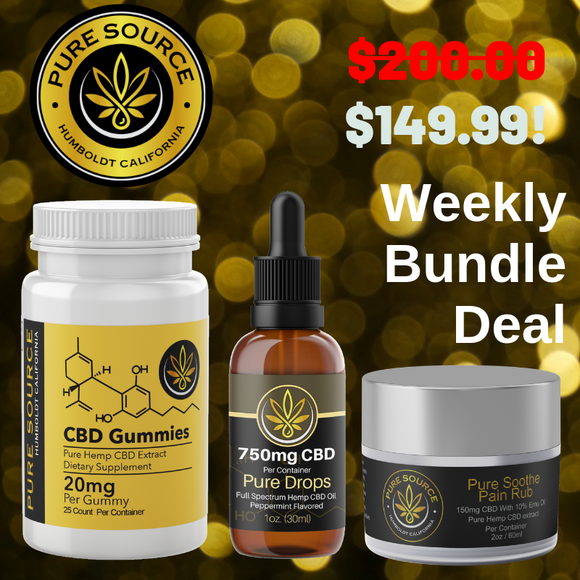 CBD Value Pack: CBD Gummies, CBD Oil, CBD Pain Rub