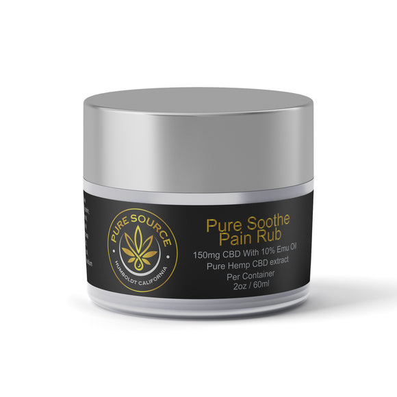 Pure Soothe CBD with Emu Oil Pain Rub (150mg+10%) 2oz.