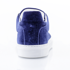 Ladies Madison Velvet Blue Sneaker