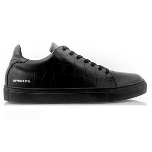 Black Sharp Croco Sneaker