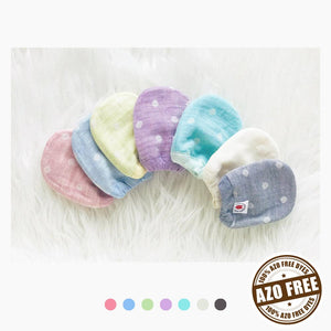 Pokka Kids anti bacteria reversible GOTS Certified Organic Cotton baby mittens in spring pastel colors