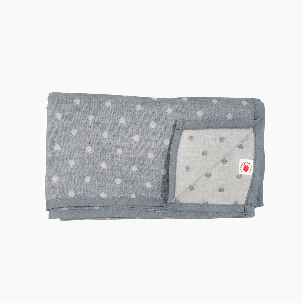 charcoal gray GOTS certified organic cotton blanket in Versatile size for use as a stroller cover, or nursing cover