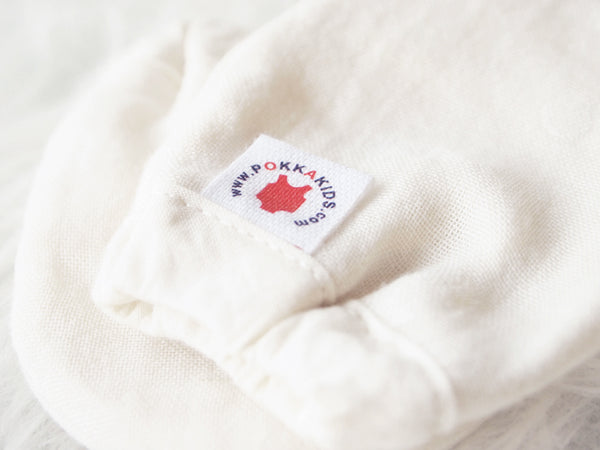 Dye Free Reversible GOTS Certified organic cotton baby mittens for eczema made in USA