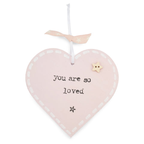 'You Are So Loved' - Pink Heart Keepsake Decoration
