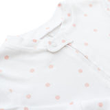 Zip Up Baby Grow - Pink 'Dinky Dot' OUTLET