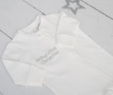 Personalised Zip Up Baby Grow