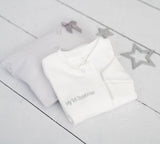 'My First Christmas' Zip Up Baby Grow