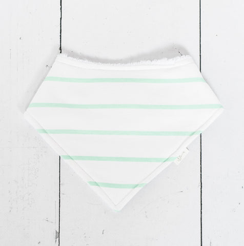 Mint Stripe Bib