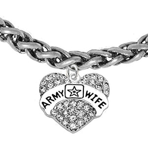 The Perfect Gift Army Wife Hypoallergenic Bracelet, Safe - Nickel & Lead Free