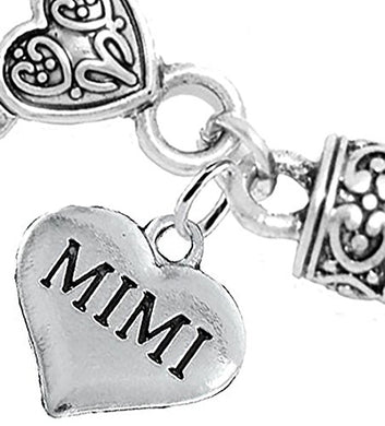 Mimi Charm Bracelet, Will NOT Irritate Anyone with Sensitive Skin, Safe, Nickel Free.