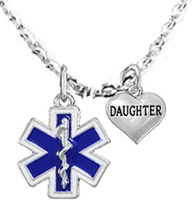 EMT, Daughter Adjustable Necklace, Hypoallergenic, Safe - Nickel & Lead Free