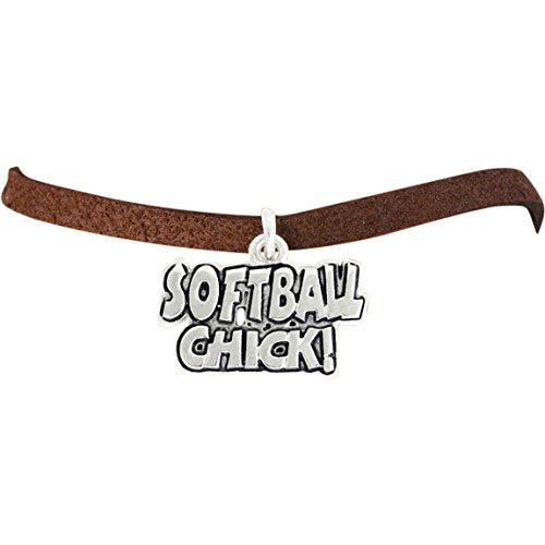 "the perfect gift ""softball chick"" adjustable bracelet  ©2010 hypoallergenic, nickel & lead free"