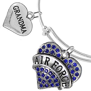 Air Force Grandma Bracelet, Adjustable, Will NOT Irritate Anyone with Sensitive Skin.