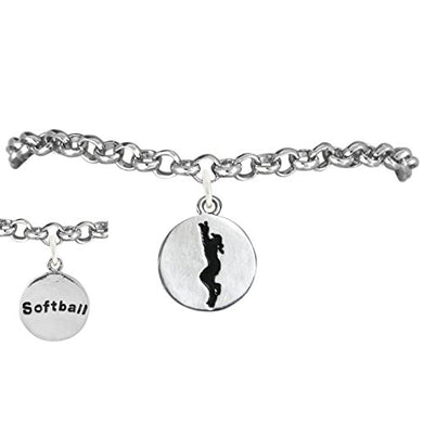 The Perfect Gift 2-Sided Softball Charm Adjustable Bracelet ©2011 Safe - Nickel & Lead Free