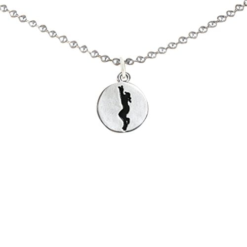"softball two-sided charm ""girl catching ball"" & word ""softball""  ©2011 nickel & lead free."