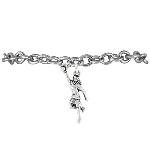 "the perfect gift ""girl catching softball"" adjustable bracelet  ©2010 safe - nickel & lead free"