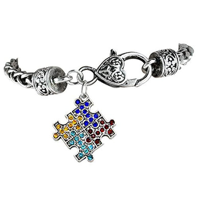 Autism Crystal, Hypoallergenic Antique Bracelet. Nickel, Cadmium, and Lead Free
