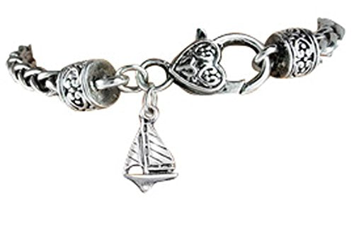 sailboat hypoallergenic safe bracelet. nickel, lead & cadmium free