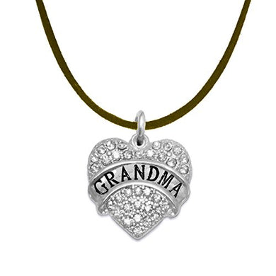 Grandma Crystal Heart Necklace, ©2015 Safe - Hypoallergenic, Nickel, Lead & Cadmium Free!