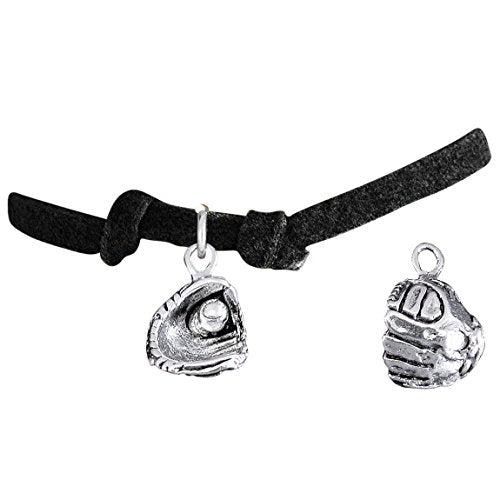 """the perfect gift """"softball ball in glove charm"""" bracelet  ©2009 adjustable, safe - nickel & lead free"""