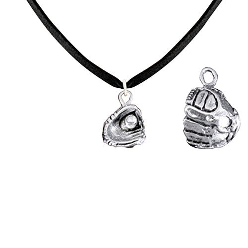 softball mitt and ball hypoallergenic adjustable necklace safe - nickel & lead free
