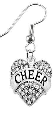 Cheer Crystal Heart Earrings, Safe - Hypoallergenic, Nickel, Lead & Cadmium Free!