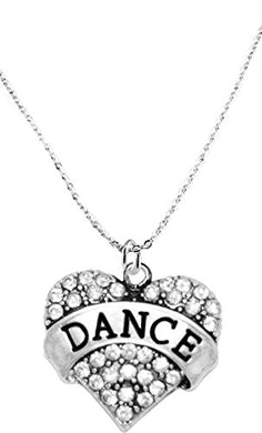 Dance Crystal Heart Necklace, Safe - Hypoallergenic, Nickel, Lead & Cadmium Free!