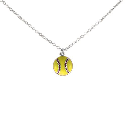 Small Cute Little Softball Hypoallergenic Adjustable Necklace Safe - Nickel & Lead Free