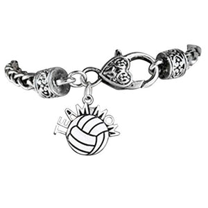 "Volleyball ""Team Mom"" Bracelet, Safe - Hypoallergenic, Nickel, Lead & Cadmium Free!"