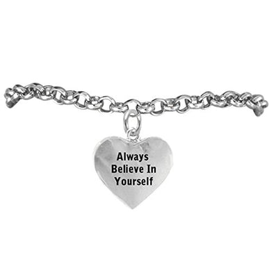 Always Believe in Yourself, Adjustable, Safe - Hypoallergenic, Nickel, Lead & Cadmium Free!