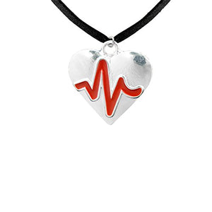 Women's Heart Disease Awareness, Hypoallergenic Adjustable Necklace. Nickel and Lead Free