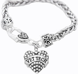 Vet Tech Crystal Heart Bracelet, Safe - Nickel, Lead & Cadmium Free!