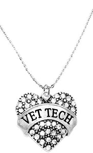 Vet Tech Crystal Heart Necklace, Safe - Nickel, Lead & Cadmium Free!