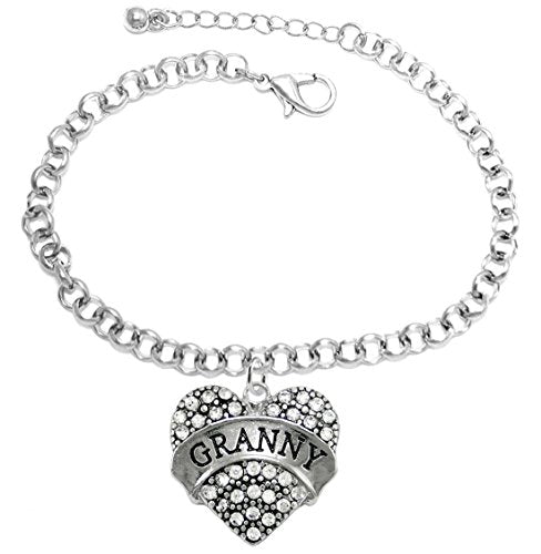 "the perfect gift ""granny"" adjustable, fits everyone hypoallergenic bracelet, safe - nickel free"