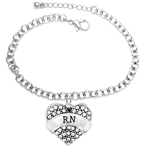 """the perfect gift """"rn"""" hypoallergenic adjustable fits anyone bracelet, safe - nickel & lead free"""