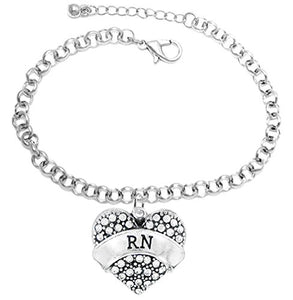 "The Perfect Gift ""RN"" Hypoallergenic Adjustable Fits Anyone Bracelet, Safe - Nickel & Lead Free"