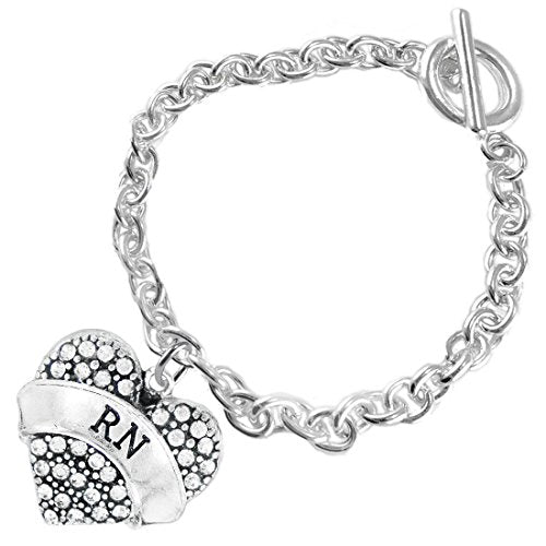 """the perfect gift """"rn"""" hypoallergenic bracelet, safe - nickel, lead & cadmium free!"""