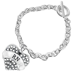 "The Perfect Gift ""RN"" Hypoallergenic Bracelet, Safe - Nickel, Lead & Cadmium Free!"