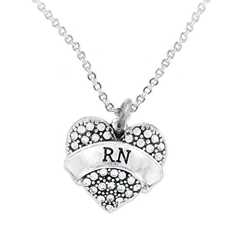 """the perfect gift """"rn"""" adjustable hypoallergenic necklace, safe - nickel & lead free!"""