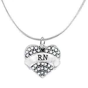 "The Perfect Gift ""RN"" Adjustable Hypoallergenic Necklace, Safe - Nickel & Lead Free!"